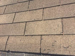Damage caused by roof raking
